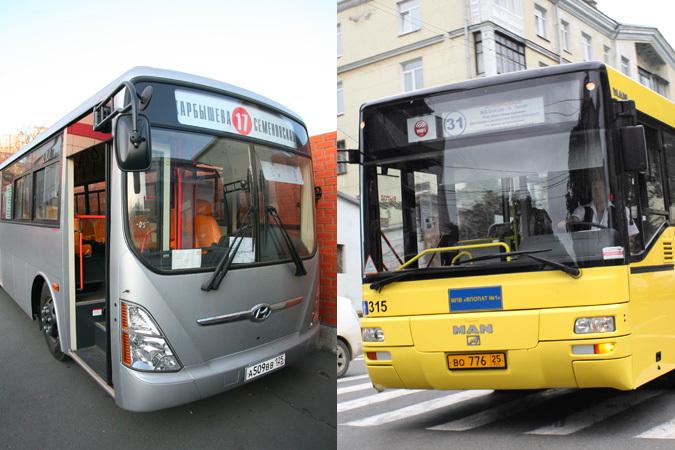 Во Владивостоке у автобусов